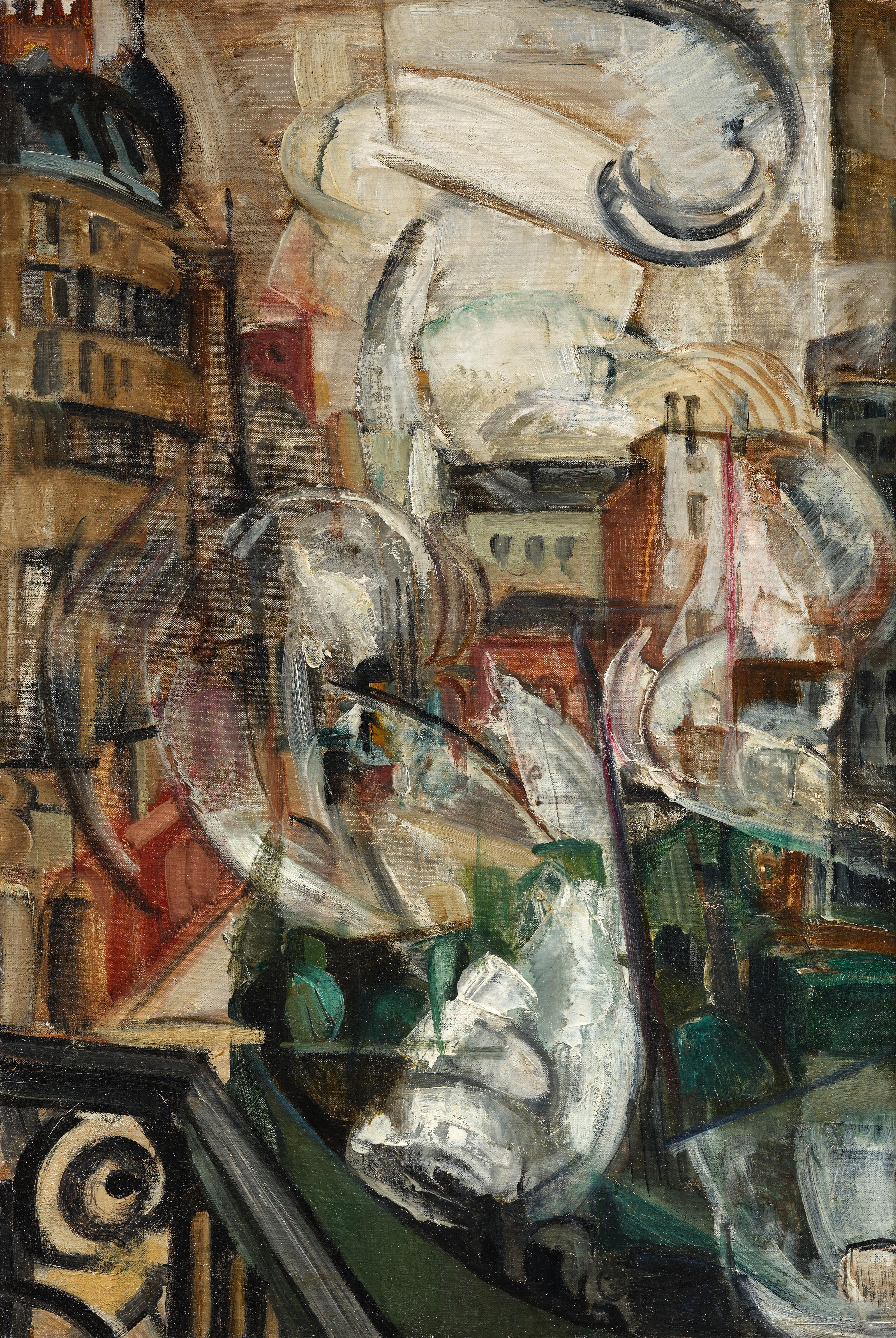 L'agitation de Paris - tableau de André Favory, vendu par la galerie Marek & Sons