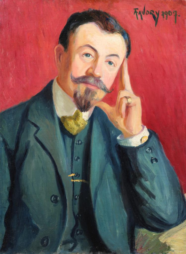 Monsieur Alfred Antoine Favory, père de l'artiste, tableau de André Favory, vendu par la galerie Marek & sons.