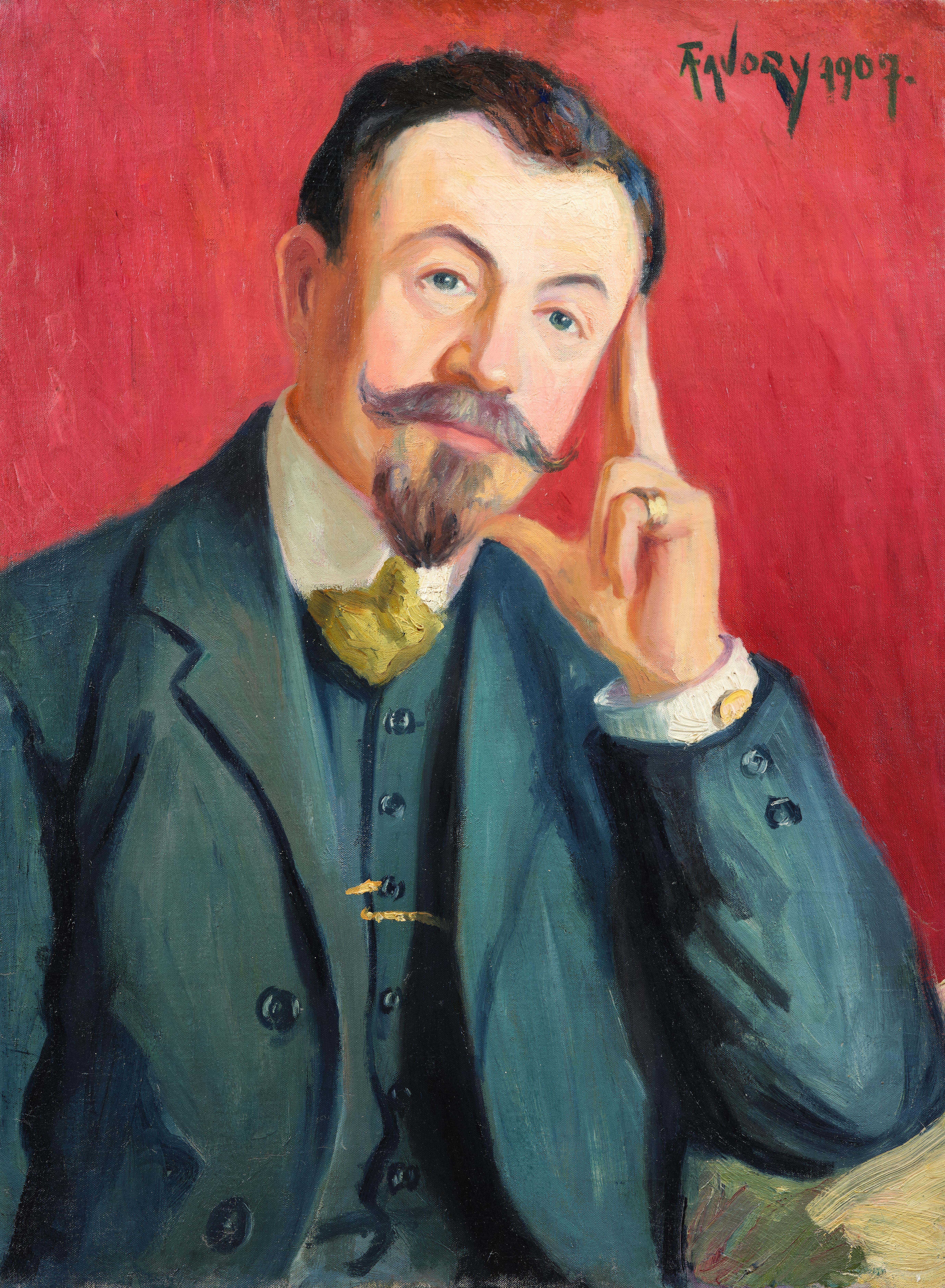 Monsieur Alfred Antoine Favory, père de l'artiste - tableau de André Favory, vendu par la galerie Marek & Sons